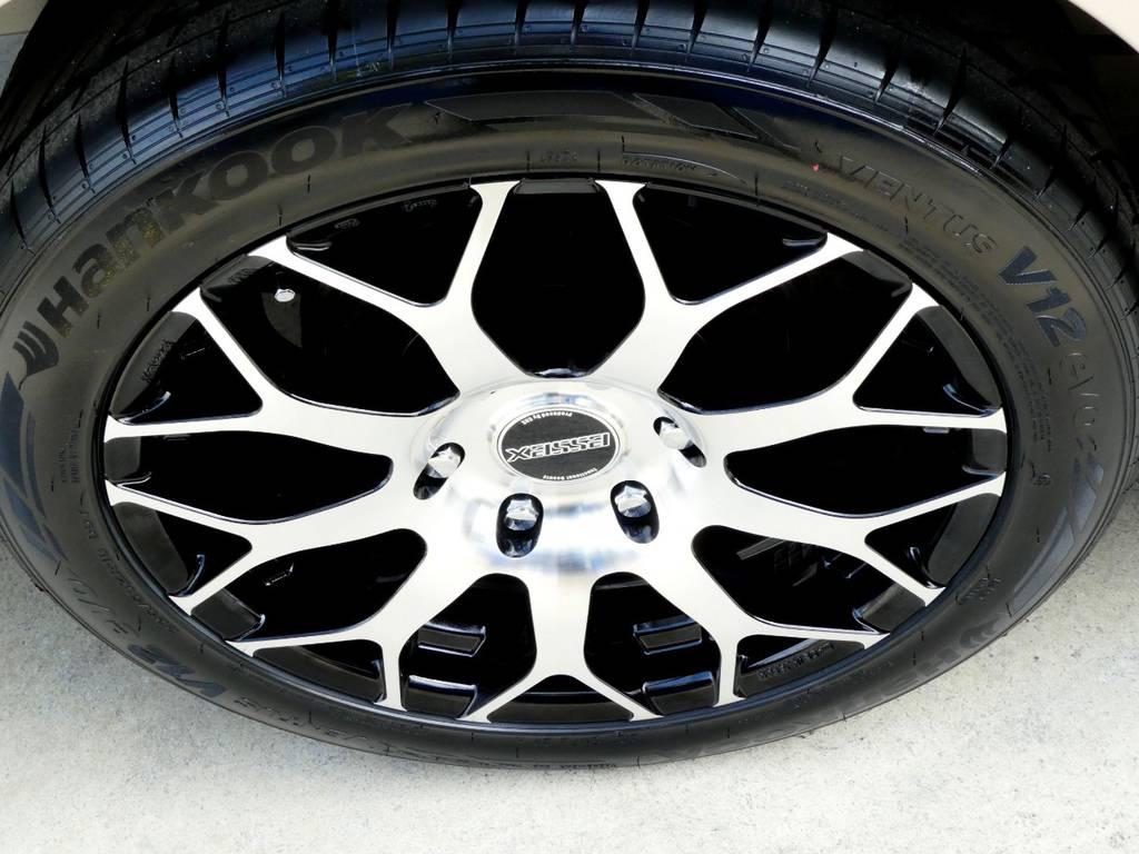 ESSEX EM18インチアルミをインストール!! | トヨタ ハイエース 2.7 グランドキャビン 4WD トリプルナビカスタム