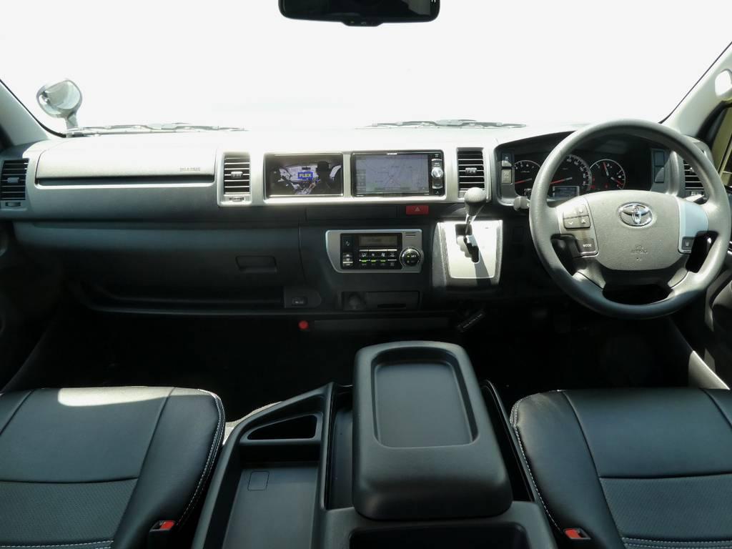 ワイドのキャビンは広々ですよ!! | トヨタ ハイエース 2.7 GL ロング ミドルルーフ 4WD 新型TSS付き トリプルナビspl
