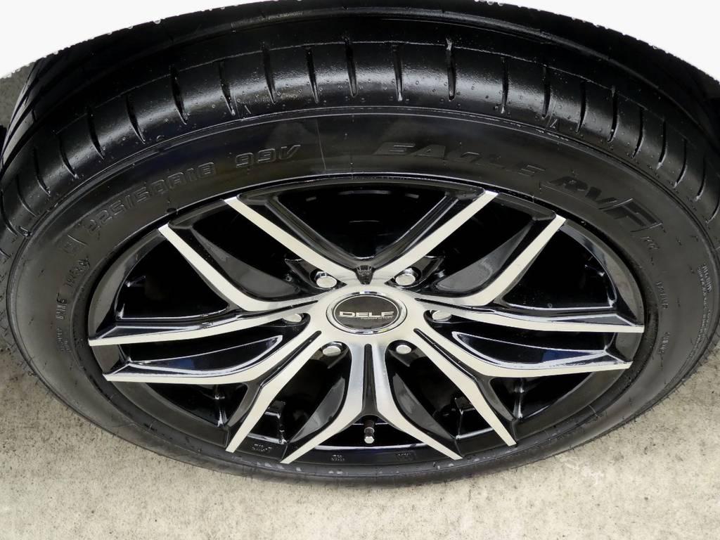 DELF01BP 18インチアルミ グッドイヤーイーグル RVFをセット!! | トヨタ ハイエース 2.7 GL ロング ミドルルーフ 4WD 新型TSS付き トリプルナビspl
