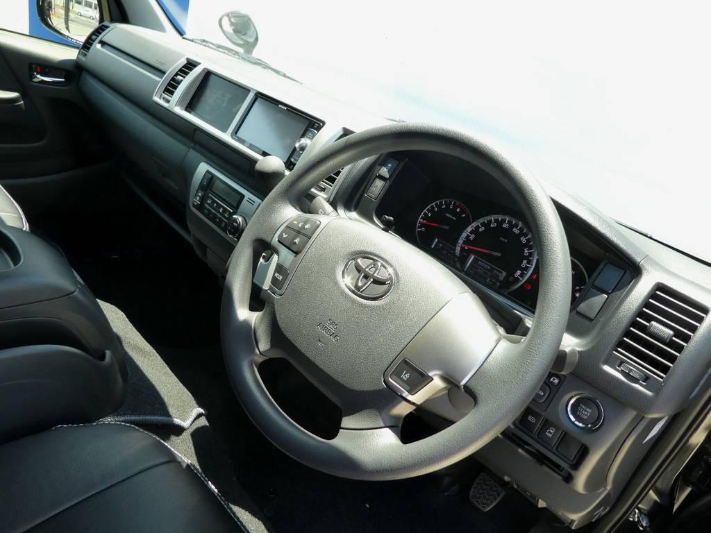 インテリアのカスタムもお任せ下さい!! | トヨタ ハイエース 2.7 GL ロング ミドルルーフ 4WD 新型TSS付き トリプルナビspl