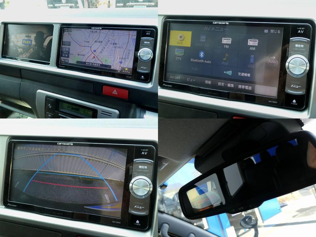 カロッツェリアSDナビ サブモニター バックカメラ画像転送施工!! | トヨタ ハイエース 2.7 GL ロング ミドルルーフ 4WD 新型TSS付き トリプルナビspl