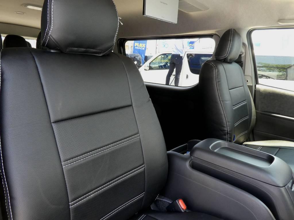 立体裁断の専用シートカバーを配備!! | トヨタ ハイエース 2.7 GL ロング ミドルルーフ 4WD 新型TSS付き トリプルナビspl