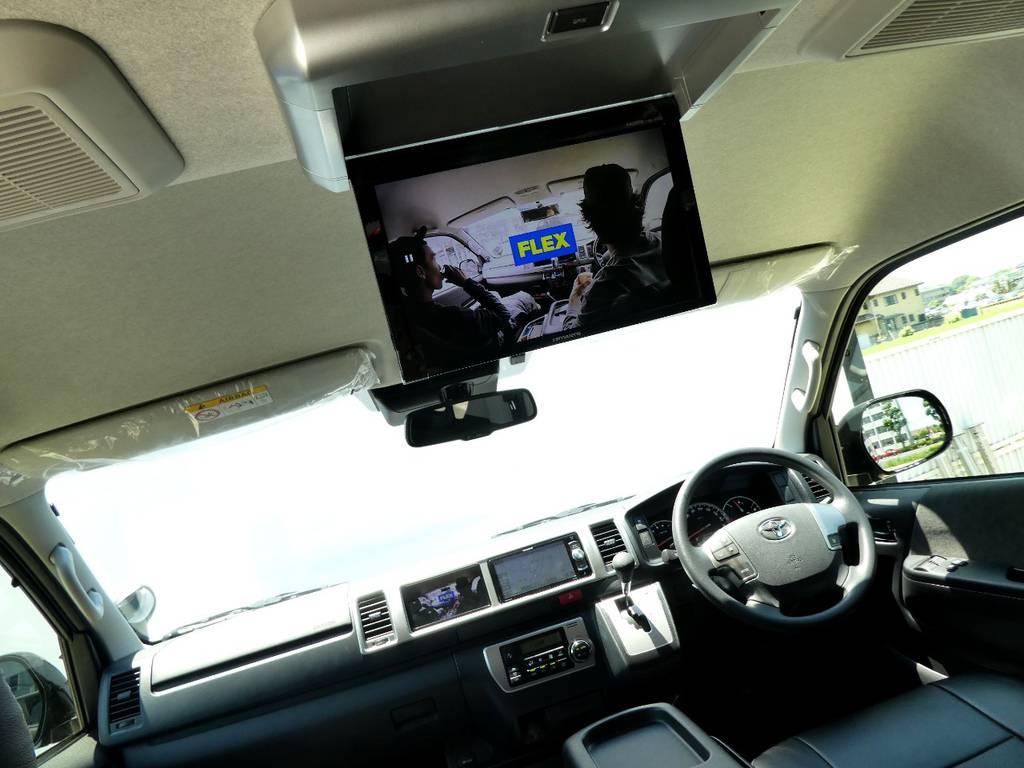 フリップダウンモニター完備で後席のかたもお楽しみいただけます!! | トヨタ ハイエース 2.7 GL ロング ミドルルーフ 4WD 新型TSS付き トリプルナビspl