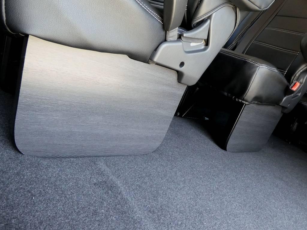 FLEXオリジナル黒木目フットパネル!! | トヨタ ハイエース 2.7 GL ロング ミドルルーフ 4WD 新型TSS付き トリプルナビspl