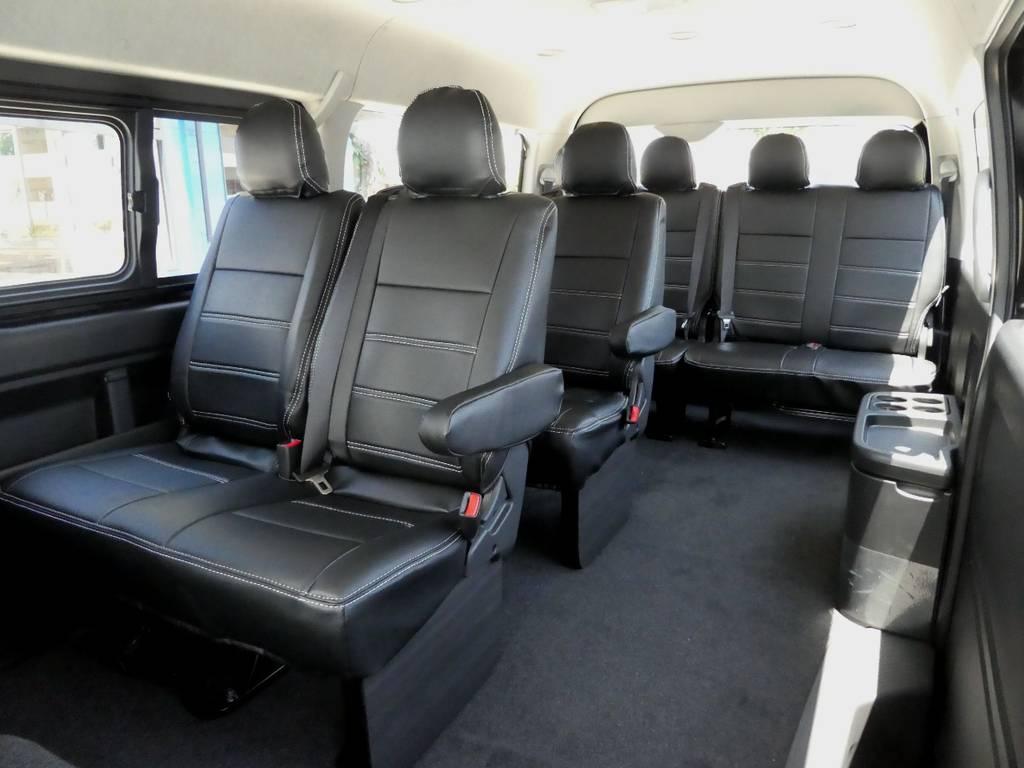 ウォークスルーで乗り降りラクラクですよ!! | トヨタ ハイエース 2.7 GL ロング ミドルルーフ 4WD 新型TSS付き トリプルナビspl