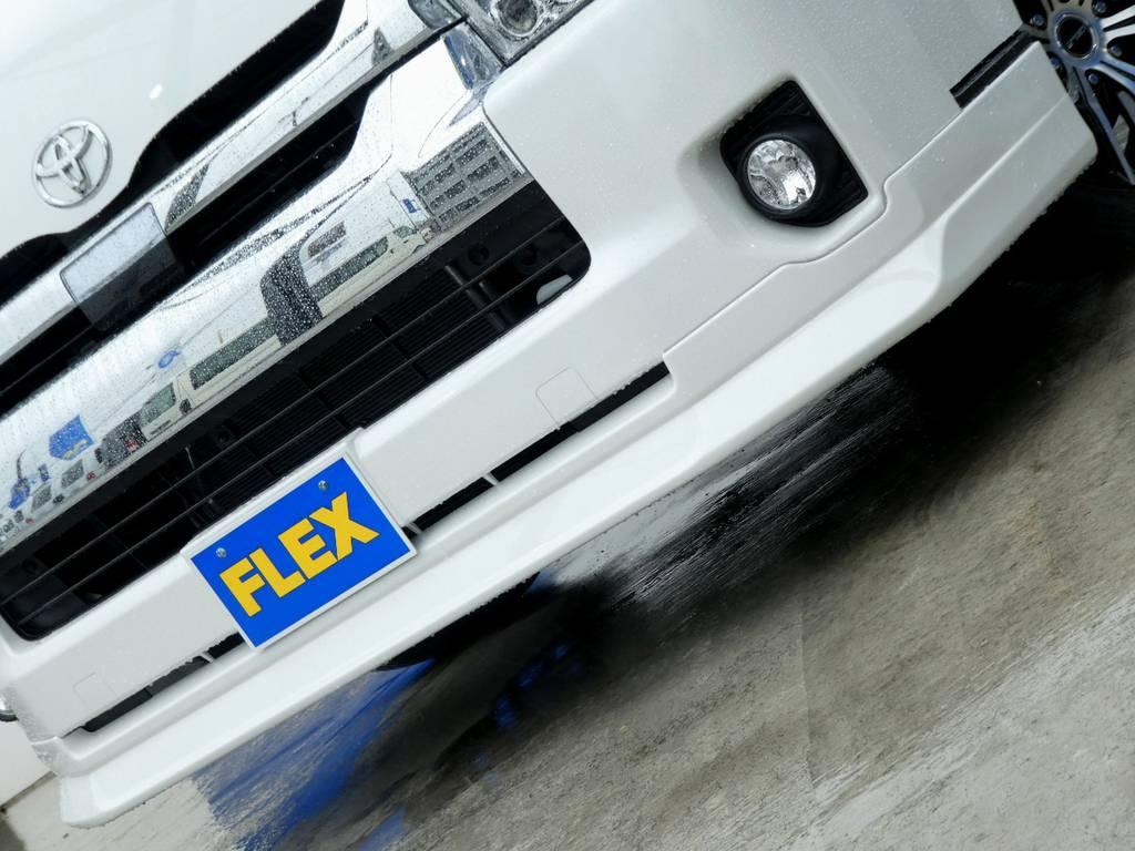 Delfino Lineスポイラーがフロントフェイスを引き締めます!! | トヨタ ハイエース 2.7 GL ロング ミドルルーフ 4WD 新型TSS付き トリプルナビspl
