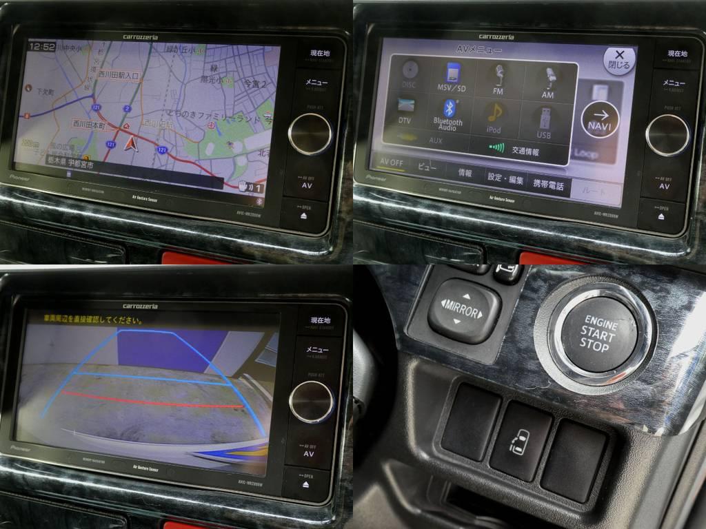 カロッツェリアSDナビ フルセグTV バックカメラ画像転送施工 ETC完備!!   トヨタ ハイエース 2.7 GL ロング ミドルルーフ VER2
