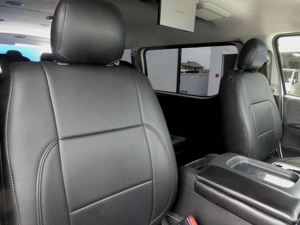 立体裁断の専用シートカバーを配備!!   トヨタ ハイエース 2.7 GL ロング ミドルルーフ VER2