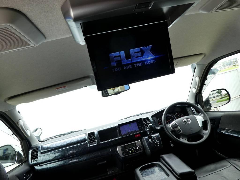 フリップダウンモニター完備で後席のかたもお楽しみいただけます!!   トヨタ ハイエース 2.7 GL ロング ミドルルーフ VER2