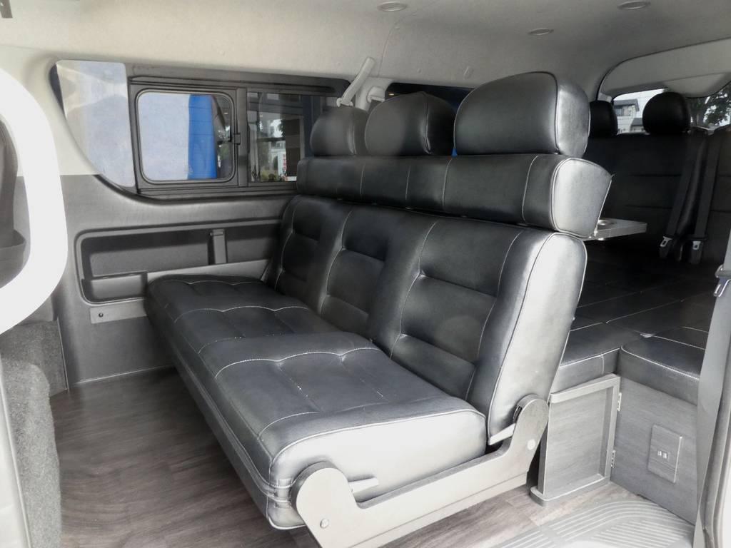 大人のかたもユッタリとお乗り頂けるベンチシート換装!!   トヨタ ハイエース 2.7 GL ロング ミドルルーフ VER2