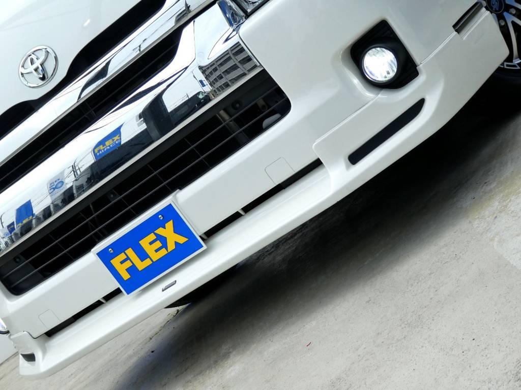 モデリスタフロントスポイラーがフロントフェイスを引き締めます!!   トヨタ ハイエース 2.7 GL ロング ミドルルーフ VER2