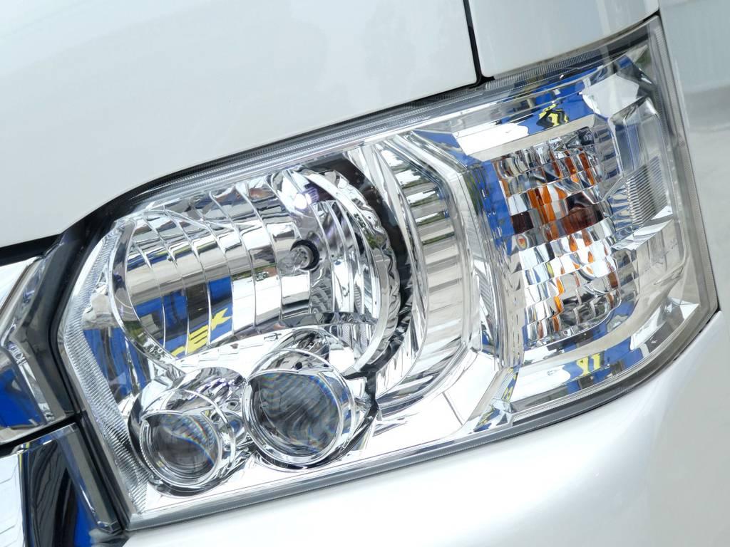 LEDヘッドライト完備!!   トヨタ ハイエース 2.7 GL ロング ミドルルーフ VER2