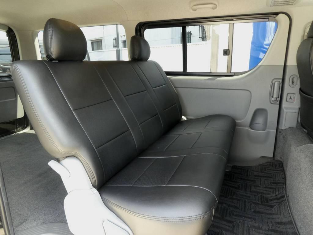 後席も当然!専用シートカバー配備!! | トヨタ レジアスエース 3.0 スーパーGL ロングボディ ディーゼルターボ