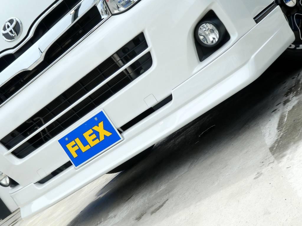 Dlefino Lineスポイラーがフロントフェイスを引き締めます!! | トヨタ ハイエースバン 2.0 スーパーGL ロング ツインナビカスタム