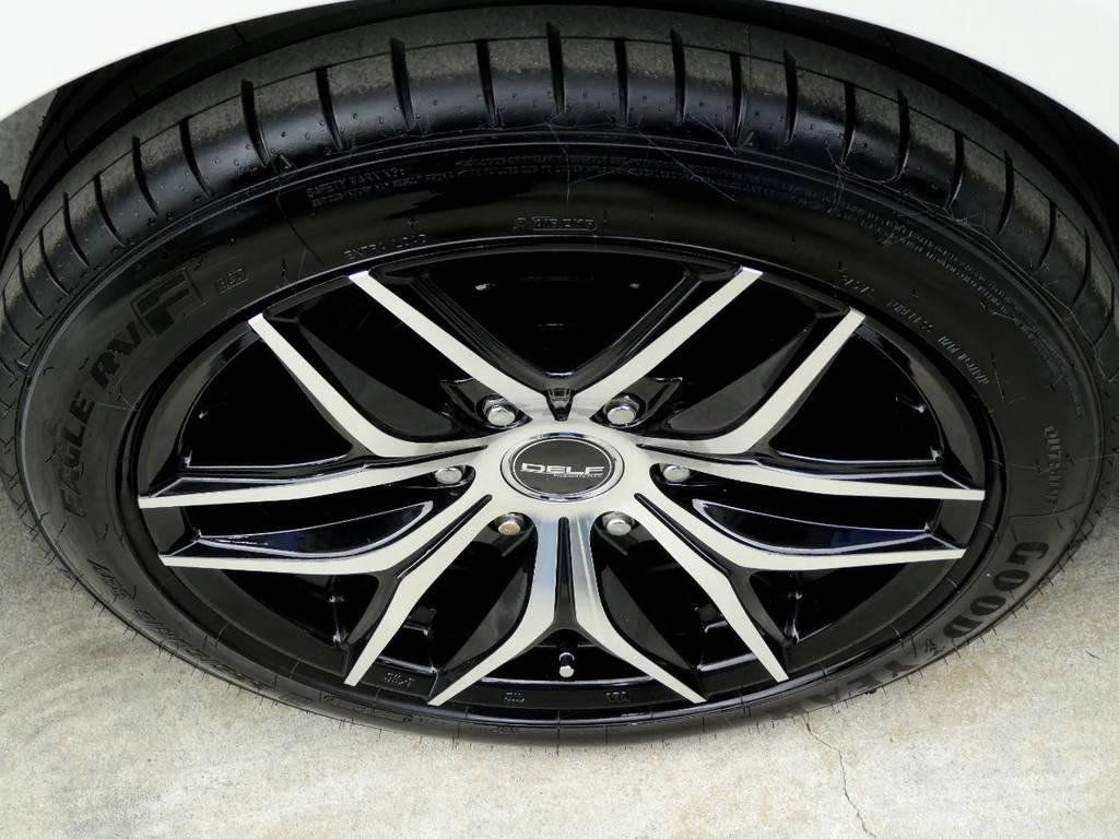 新品にてDELF01 18インチアルミ グッドイヤーイーグルRVFタイヤをセット!! | トヨタ ハイエース 2.7 GL ロング ミドルルーフ