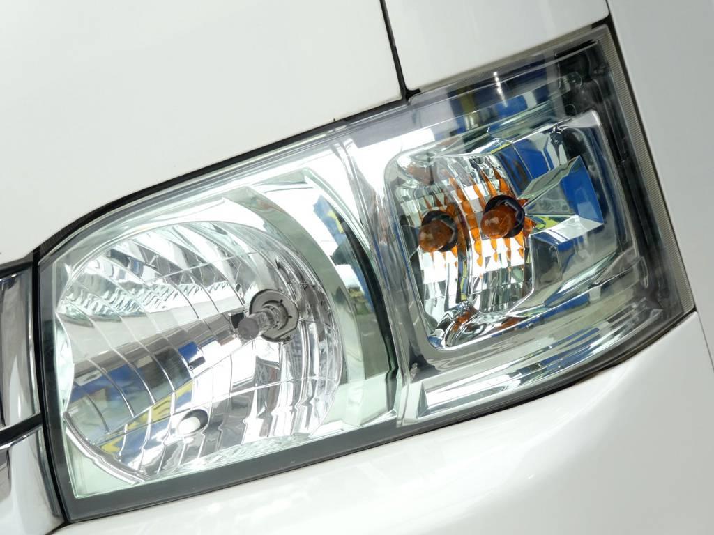 社外クリスタルヘッドライトを配備!! | トヨタ ハイエース 2.7 GL ロング ミドルルーフ