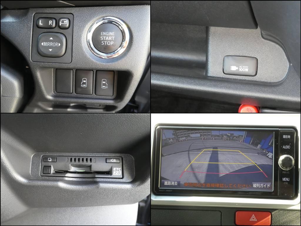 プッシュスタート、両側パワースライドドア、100V電源、ETC、バックカメラ完備!! | トヨタ レジアスエース 3.0 スーパーGL ダークプライム ロングボディ ディーゼルターボ 4WD 内外装フルカスタム