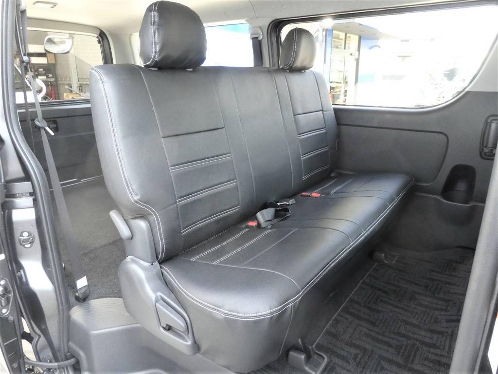 座り心地のいい2列目シート!! | トヨタ レジアスエース 3.0 スーパーGL ダークプライム ロングボディ ディーゼルターボ 4WD 内外装フルカスタム