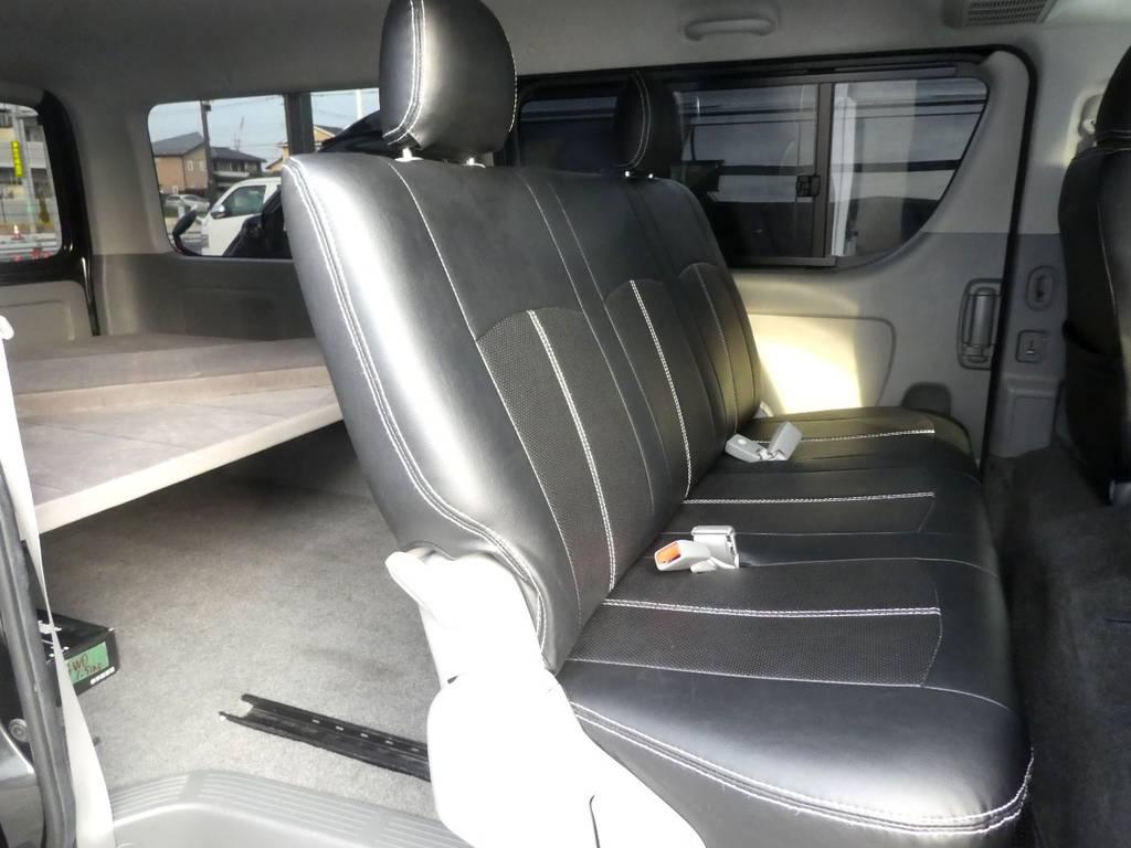 セカンドシートはスライドレールキットを装備! | トヨタ ハイエースバン 3.0 スーパーGL ロング ディーゼルターボ 4WD 内外装フルカスタム