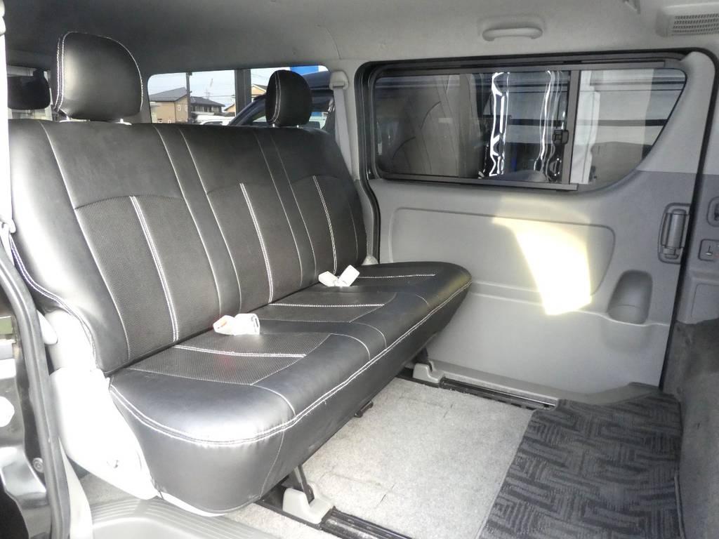 スライドレール後方で足元広々ですよ!! | トヨタ ハイエースバン 3.0 スーパーGL ロング ディーゼルターボ 4WD 内外装フルカスタム