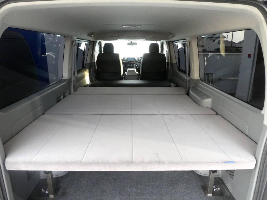 車中泊に大活躍ですね!!   トヨタ ハイエースバン 3.0 スーパーGL ロング ディーゼルターボ 4WD 内外装フルカスタム