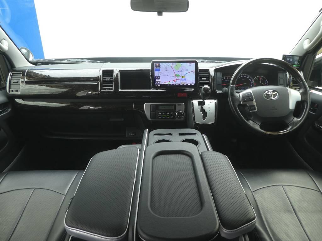 インテリアの状態も良好です! | トヨタ レジアスエース 3.0 スーパーGL ワイド ミドルルーフ ロングボディ ディーゼルターボ WALDフルエアロ