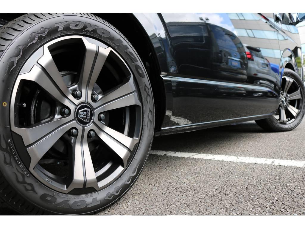 TOYO H20タイヤとのSET!黒文字も大人でカッコイイですよね♪ | トヨタ ハイエース 2.7 GL ロング ミドルルーフ TSS付