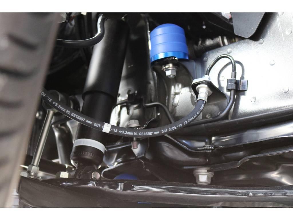 前後バンプラバーはクオリティの高い玄武製を使用! | トヨタ ハイエース 2.7 GL ロング ミドルルーフ TSS付