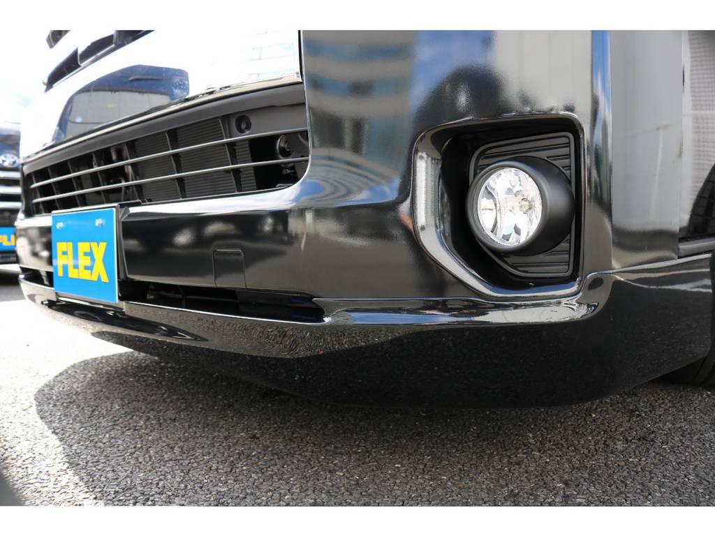 大人気のクリーンルック3フロントスポイラー!上品なボディラインがセクシーです | トヨタ ハイエース 2.7 GL ロング ミドルルーフ TSS付
