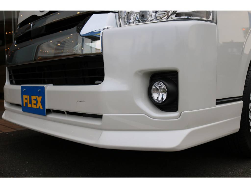 オリジナルフロントリップ装着!! | トヨタ ハイエース 2.7 GL ロング ミドルルーフ 4WD TSS付 即納車可能 人気のナビPKG