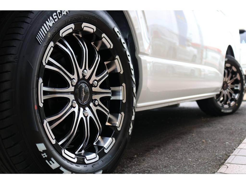 バトルシップ 17インチアルミ装着!! | トヨタ ハイエース 2.7 GL ロング ミドルルーフ 4WD TSS付 即納車可能 人気のナビPKG