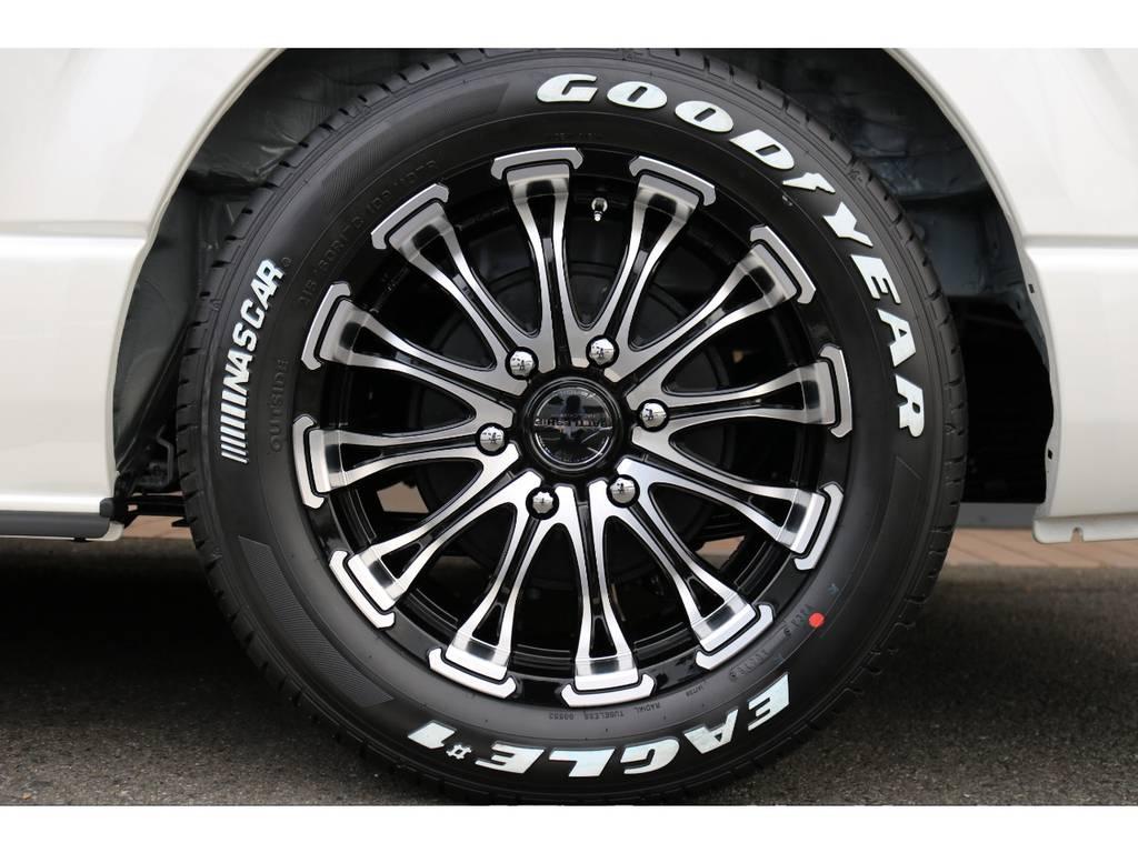 グッドイヤーナスカー 17インチタイヤ!! | トヨタ ハイエース 2.7 GL ロング ミドルルーフ 4WD TSS付 即納車可能 人気のナビPKG