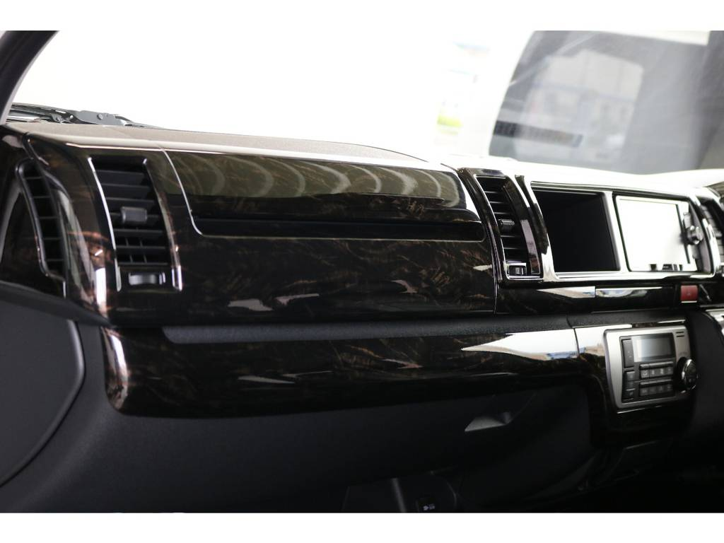 ケースペック マホガニー調インテリアパネル!! | トヨタ ハイエース 2.7 GL ロング ミドルルーフ 4WD TSS付 即納車可能 人気のナビPKG
