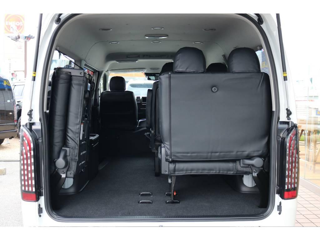 長い物もストレスなく積むことができます!! | トヨタ ハイエース 2.7 GL ロング ミドルルーフ 4WD TSS付 即納車可能 人気のナビPKG