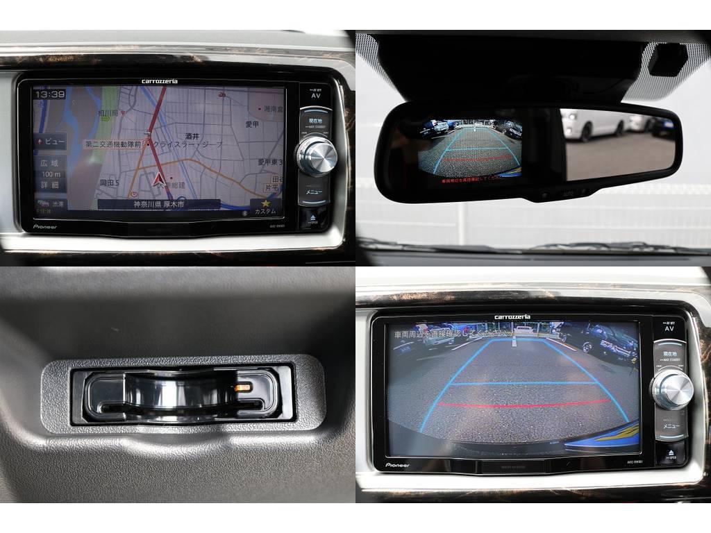 ナビ&ETC&リア防眩インナーミラー(バックカメラ)&バックガイドモニターの充実装備です♪ | トヨタ ハイエース 2.7 GL ロング ミドルルーフ 4WD TSS付 トリプルナビパッケージプラス