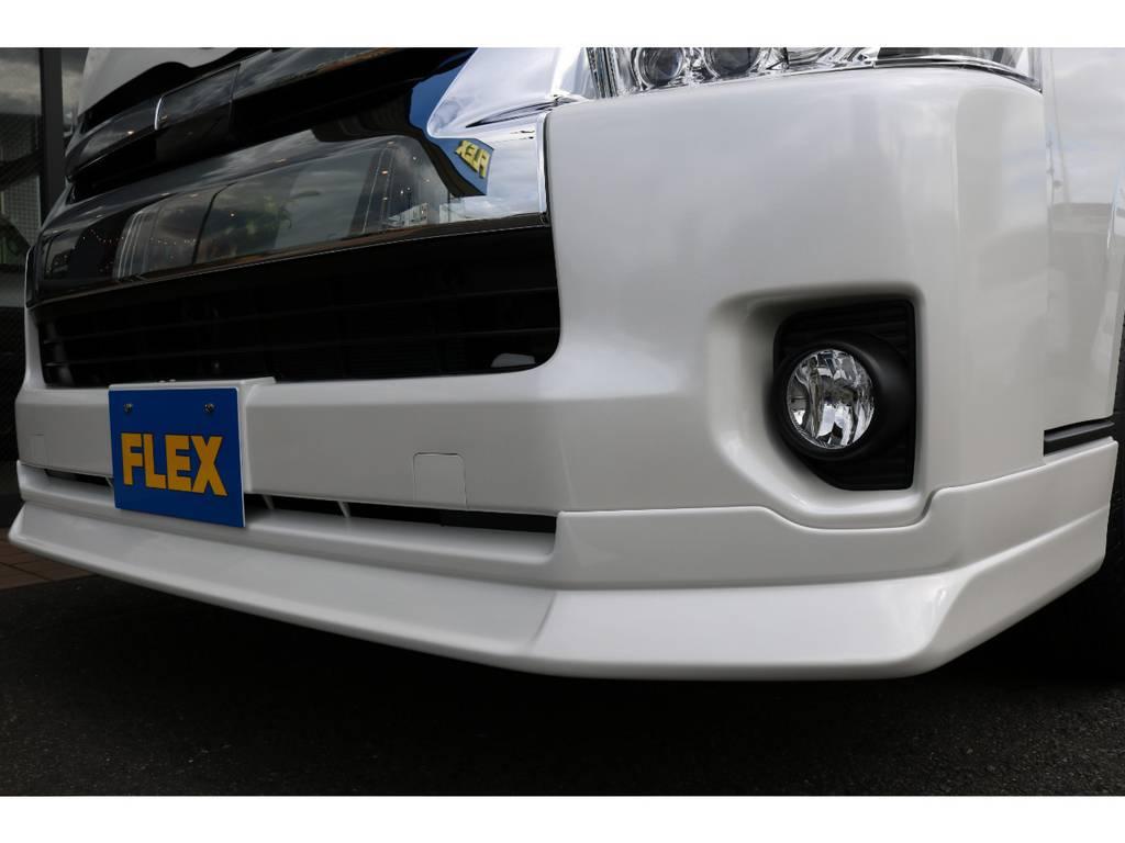 オリジナルDelfinoLineフロントリップ装着!! | トヨタ ハイエース 2.7 GL ロング ミドルルーフ 4WD TSS付 トリプルナビパッケージプラス