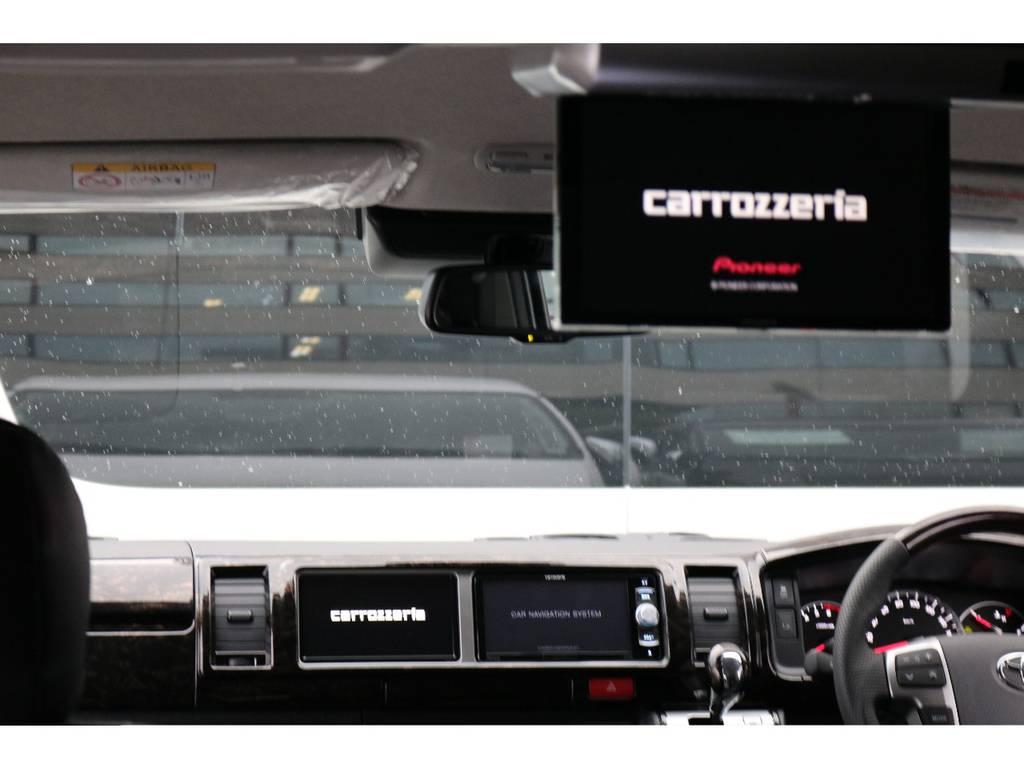 カロッツェリア フリップダウンモニター付き!! | トヨタ ハイエース 2.7 GL ロング ミドルルーフ 4WD TSS付 トリプルナビパッケージプラス