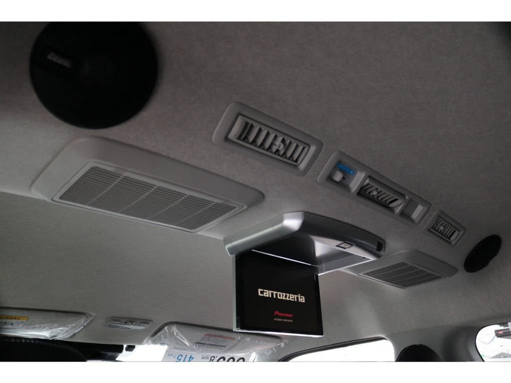 カロッツェリア ルーフスピーカー付き!! | トヨタ ハイエース 2.7 GL ロング ミドルルーフ 4WD TSS付 トリプルナビパッケージプラス