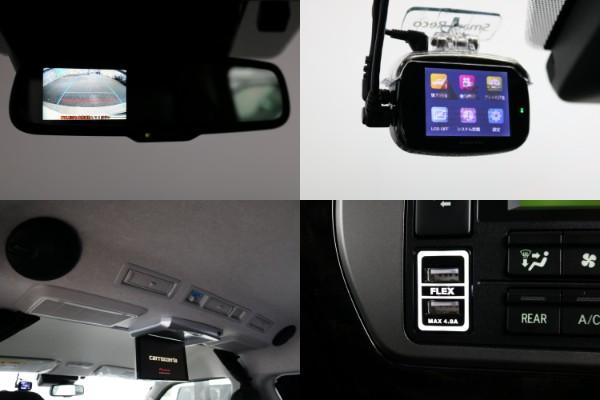 リア防眩インナーミラー(バックカメラ付き)&ドライブレコーダー&ルーフスピーカー&USB充電付き♪