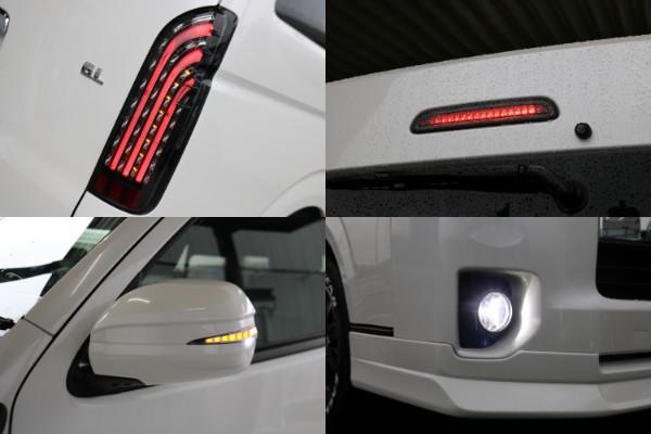 フレックスオリジナルキラメキLEDテール&LEDハイマウントストップ&ウィンカーミラー&純正LEDヘッドライト&社外LEDフォグランプ付き♪
