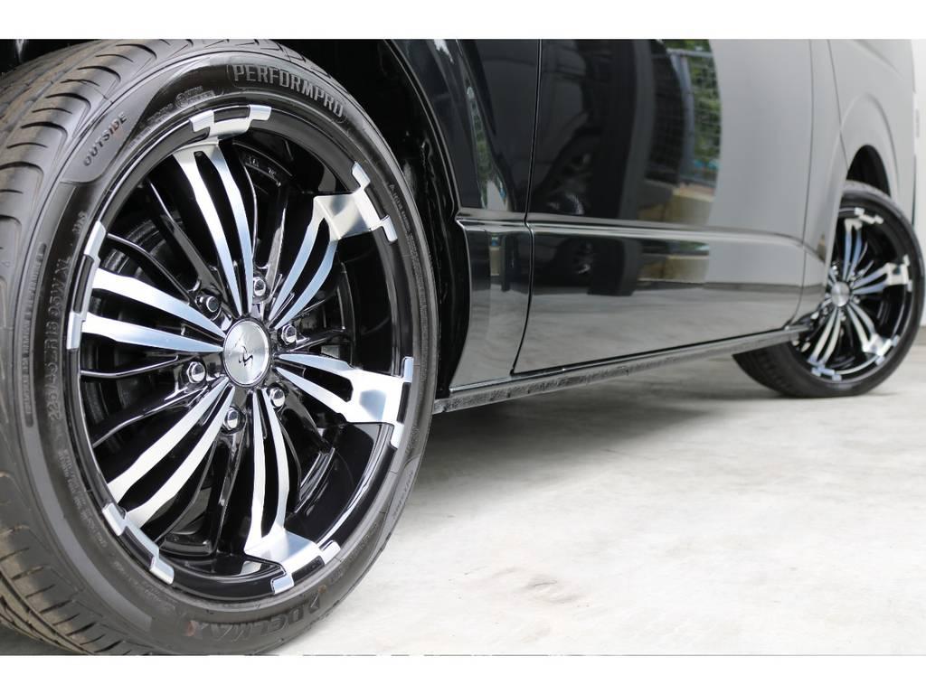 ジュネス18インチアルミホイール&グッドイヤー18インチタイヤ装着!!   トヨタ ハイエースバン 2.0 スーパーGL ダークプライムⅡ ロングボディ PS無