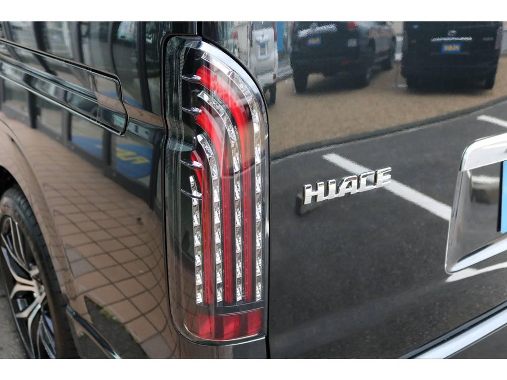 フレックスオリジナルLEDテール装着!! | トヨタ ハイエース 2.7 GL ロング ミドルルーフ 4WD TSS付