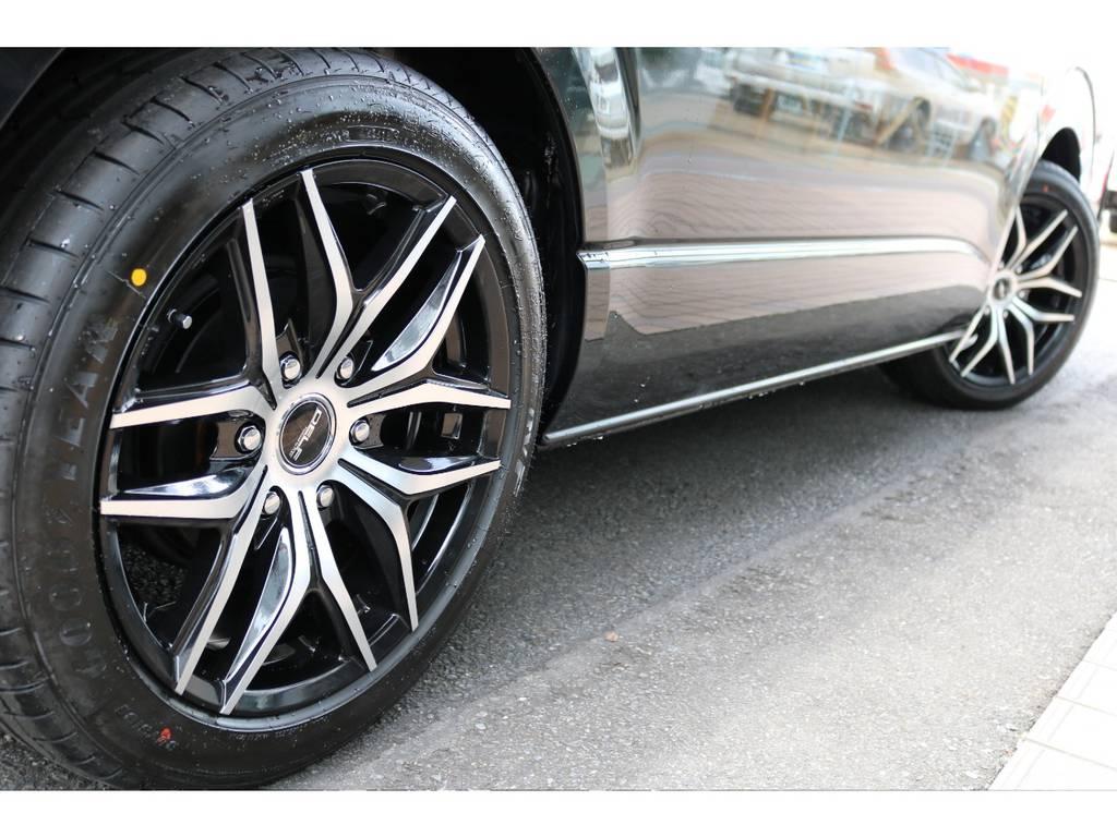 オリジナル18インチアルミ(デルフ01)&グッドイヤー18インチタイヤ装着!! | トヨタ ハイエース 2.7 GL ロング ミドルルーフ 4WD TSS付