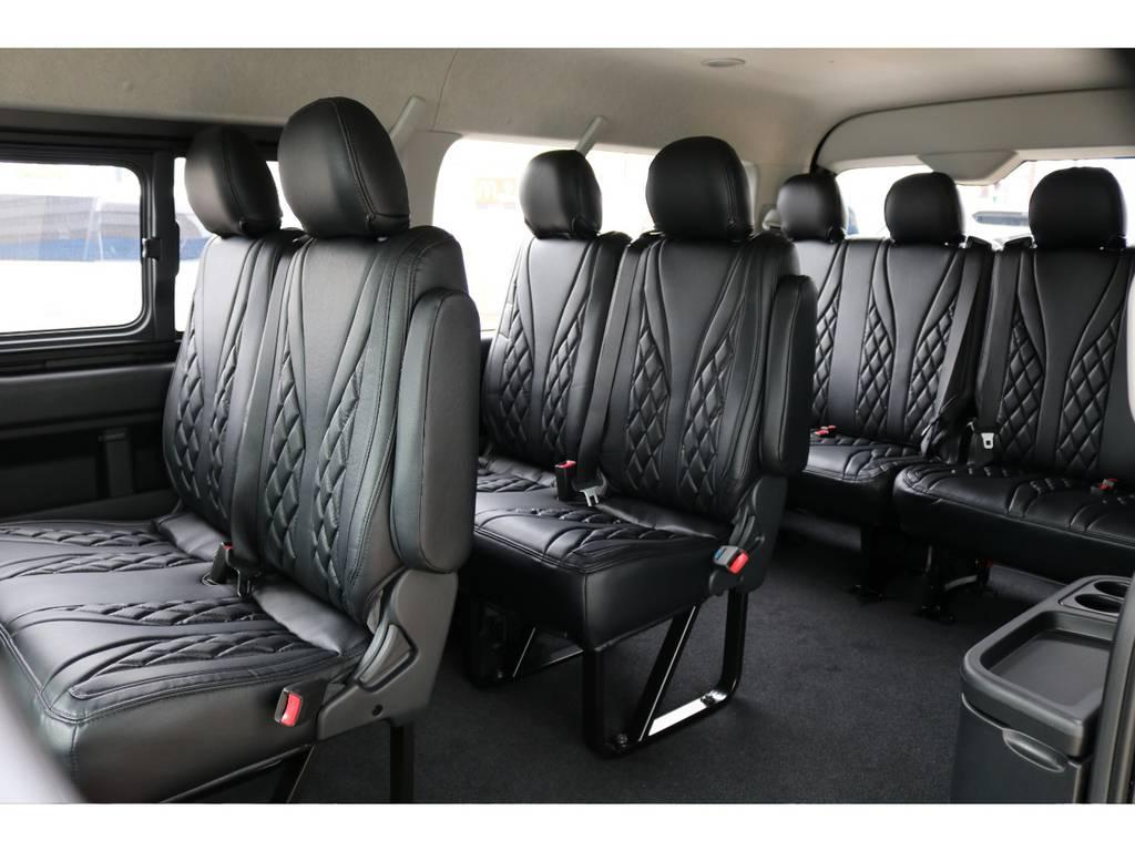 これだけ座れますよ!! | トヨタ ハイエース 2.7 GL ロング ミドルルーフ 4WD TSS付