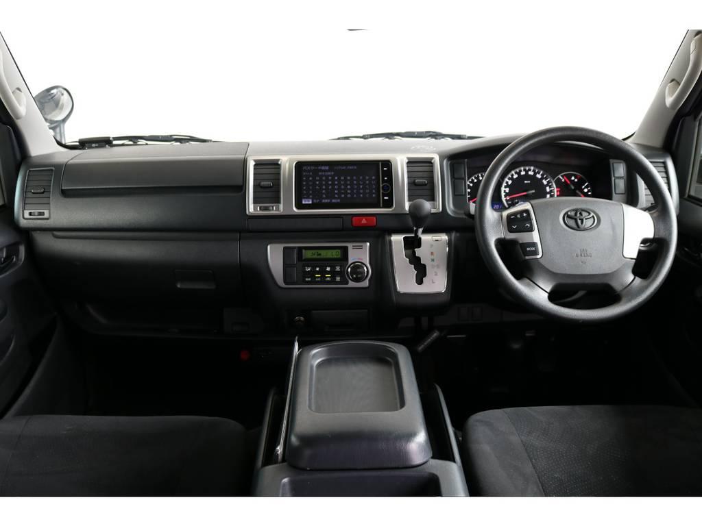 ステアリングオーディオスイッチ付きです!! | トヨタ ハイエースバン 2.0 スーパーGL ロング 新品ベットキット