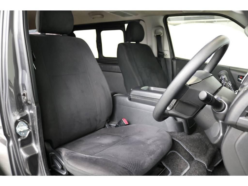 視界良好な運転席!! | トヨタ ハイエースバン 2.0 スーパーGL ロング 新品ベットキット