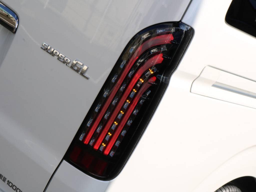 オリジナル煌LEDテール付き。   トヨタ ハイエースバン 2.8 スーパーGL ダークプライムⅡ ロングボディ ディーゼルターボ 4WD 寒冷地仕様 小窓付き