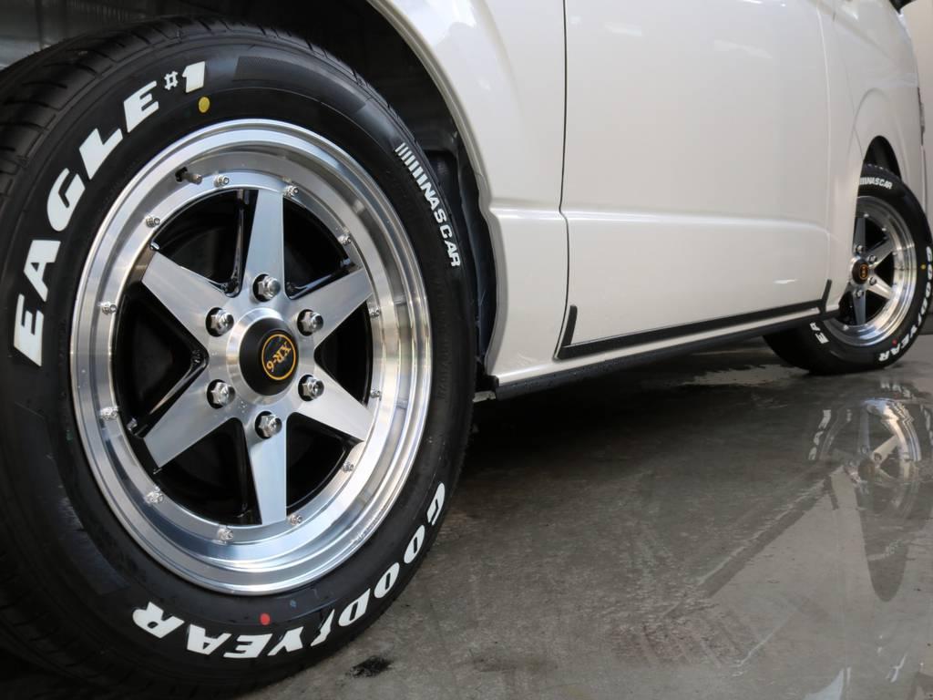 ファブレスXR-6 17インチアルミホイールでカッコよく!!   トヨタ ハイエースバン 2.8 スーパーGL ダークプライムⅡ ロングボディ ディーゼルターボ 4WD 寒冷地仕様 小窓付き