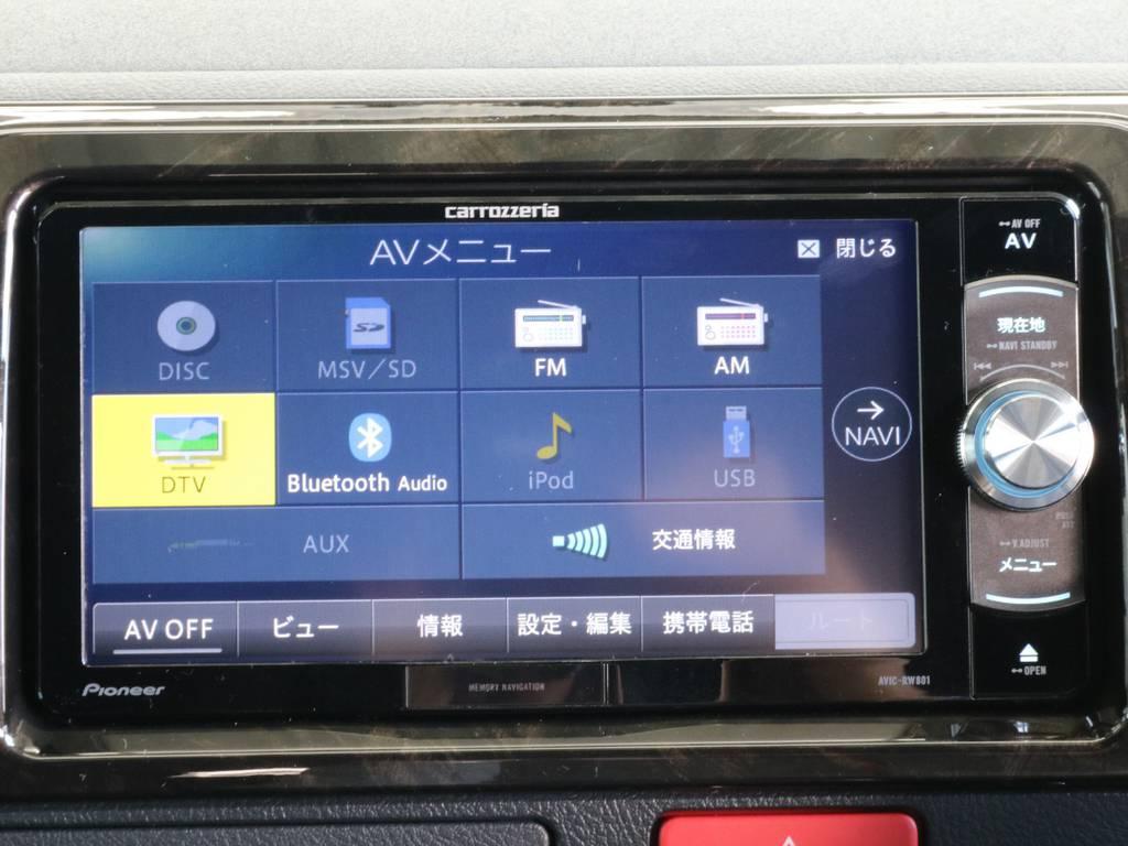 地デジ対応SDナビです。   トヨタ ハイエースバン 2.8 スーパーGL ダークプライムⅡ ロングボディ ディーゼルターボ 4WD 寒冷地仕様 小窓付き