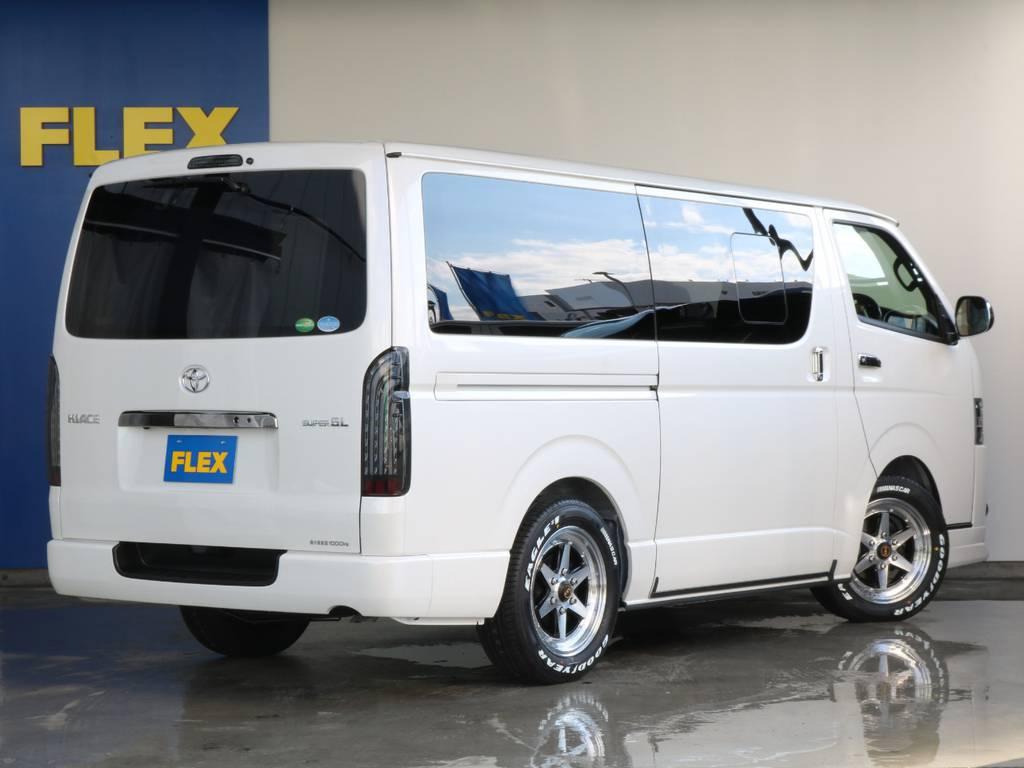 決まってます!!   トヨタ ハイエースバン 2.8 スーパーGL ダークプライムⅡ ロングボディ ディーゼルターボ 4WD 寒冷地仕様 小窓付き